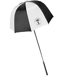 Drizzle Stik Black and White Golf Club Umbrella - Flexible Bending Head