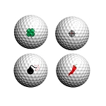 GolfDotz EZ ID For Golf Balls Fabulous Four Variety Packs - 32 per pack