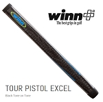 Standard Size - Winn Tour Pistol Putter Grip Black Tone on Tone