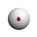 GolfDotz EZ ID For Golf Balls Ladybugs - 32 per pack