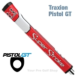 Super Stroke Traxion Pistol GT 2.0 Red/White Putter Grip