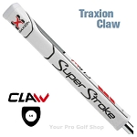 Super Stroke Traxion Claw 1.0 White/Red/Gray Putter Grip