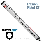Super Stroke Traxion Pistol GT Tour White/Red/Gray Putter Grip