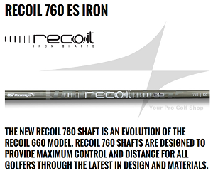 UST Mamiya Recoil 760 ES 370 Parallel Iron Shafts