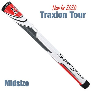 Super Stroke Traxion Tour White/Red/Gray Midsize Swing Club Grip