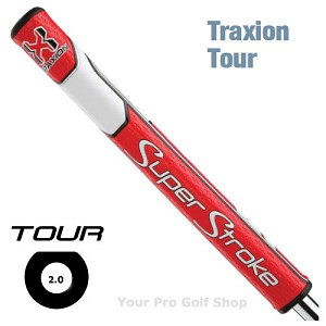 Super Stroke Traxion Tour 2.0 Red/White Putter Grip